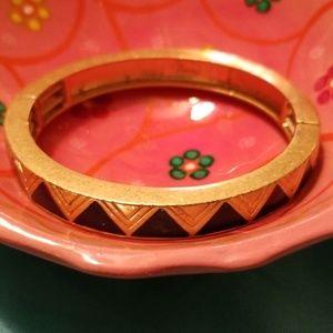 Gold Bracelet with Navy